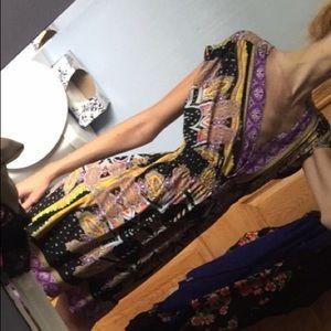 Deep v necked dress